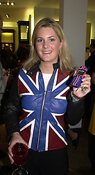 MISS KINVARA BALFOUR at a party in London <br /> on 8th May 2000.ODN 33