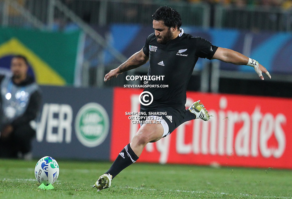 AUCKLAND, NEW ZEALAND - OCTOBER 16, Piri Weepu during the 2011 IRB Rugby World Cup Semi Final match between New Zealand and Australia at Eden Park on October 16, 2011 in Auckland, New Zealand<br /> Photo by Steve Haag / Gallo Images