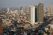 Philippines, Manilla, City views of Pasig river and Mandaluyong district.<br />