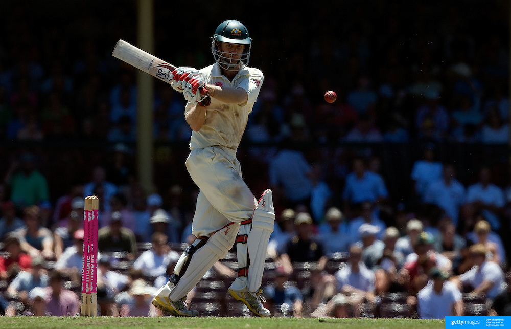 Australian batsman Simon Katich in action during day four of the third test match between Australia and South Africa at the Sydney Cricket Ground on January 6, 2009 in Sydney, Australia. Photo Tim Clayton