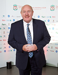 LIVERPOOL, ENGLAND - Tuesday, May 19, 2015: Former FA chief Brian Barwick arrives on the red carpet for the Liverpool FC Players' Awards Dinner 2015 at the Liverpool Arena. (Pic by David Rawcliffe/Propaganda)