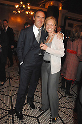 MARIELLA FROSTRUP and A A GILL at a party to celebrate the publication of Table Talk by A  A Gill held at Luciano, 72-73 St.James's, London on 22nd October 2007.<br />