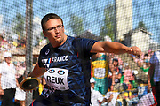 Tom Reux (FRA) competes in Discus Throw Men during the IAAF World U20 Championships 2018 at Tampere in Finland, Day 5, on July 14, 2018 - Photo Julien Crosnier / KMSP / ProSportsImages / DPPI