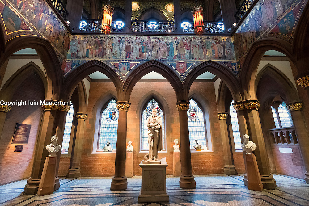 Interior of Scottish National Portrait Gallery in Edinburgh , Scotland, United kingdom