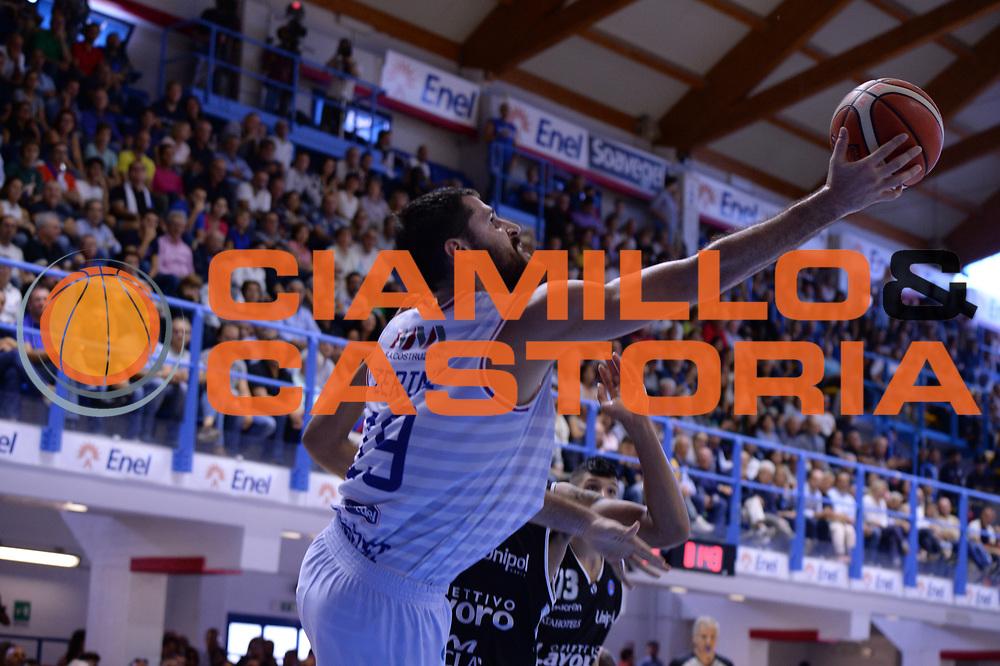 DESCRIZIONE : Brindisi  Lega A 2015-16<br /> Enel Brindisi Obiettivo Lavoro Virtus Bologna<br /> GIOCATORE : Andrea Zerini<br /> CATEGORIA : Tiro Sottomano<br /> SQUADRA : Enel Brindisi<br /> EVENTO : Campionato Lega A 2015-2016<br /> GARA :Enel Brindisi Obiettivo Lavoro Virtus Bologna<br /> DATA : 11/10/2015<br /> SPORT : Pallacanestro<br /> AUTORE : Agenzia Ciamillo-Castoria/M.Longo<br /> Galleria : Lega Basket A 2014-2015<br /> Fotonotizia : Brindisi  Lega A 2015-16 Enel Brindisi Obiettivo Lavoro Virtus Bologna<br /> Predefinita :