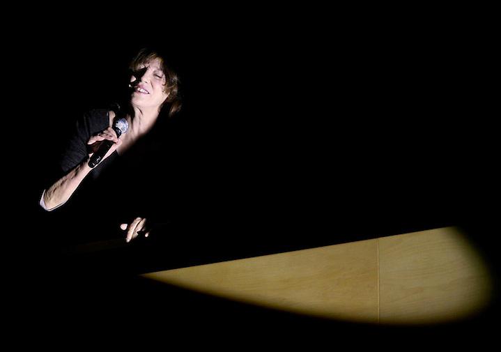 TEMA: ACTUACIO? DE LA CANTANT FRANCESA JANE BIRKIN A L'AUDITORI DE GIRONA.  LLOC: GIRONA. DATA: 20-02-08. FOTO: JORDI RIBOT-LVE.