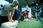 First Aid training during conference Trainers Academy for winter trainers and coaches at COS (Centralny Osrodek Sportowy) in Zakopane on September 9, 2014.<br /> <br /> Poland, Zakopane, September 09, 2014<br /> <br /> Picture also available in RAW (NEF) or TIFF format on special request.<br /> <br /> For editorial use only. Any commercial or promotional use requires permission.<br /> <br /> Mandatory credit:<br /> Photo by &copy; Adam Nurkiewicz / Mediasport