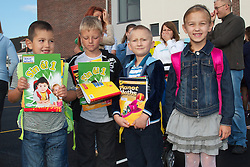 NEW BEGINNING FOR HOLYWELL EDUCATE TOGETHER NATIONAL SCHOOL..Holywell ETNS Swords will open for the 2012/13 school year in a state-of-the-art new school building. Housed in prefabs for the last two years, pupils in Holywell will now enjoy one of the finest primary school buildings in the country...Pictured at the first day were;...Established in 2010, Holywell opened with 21 pupils. Numbers quickly jumped to 71 pupils the following year and have trebled again to 237 pupils for the 2012/13 term. The third Educate Together school to go to three streams, Holywell will have in excess of 700 pupils when the school reaches its full capacity...School Principal Maria Boyne is delighted with the school's success and its magnificent new home. She says 'The new building is wonderful and will be a fantastic educational resource for the Swords community long into the future. The quality of the building is of the highest standard and I can't wait to see it bursting with life when the children arrive'...The new building project commenced in January and was formerly handed over by the Department of Education & Skills to Educate Together on August 24th. Built by ABM Design & Build and project managed by Healy Kelly Turner & Townsend on behalf of the Department, the new school in Holywell ranks amongst the finest primary education facilities in the country. In addition to 24 mainstream classrooms, Holywell ETNS will also open a 12-pupil ASD unit and its school hall will serve as a shared community facility outside of school hours. ..Educate Together CEO Paul Rowe, speaking at the official handover said 'The quality of the new school buildings that Educate Together is now taking possession of is extraordinary. In the last three years Educate Together has accepted 8 new school buildings in Fingal and the standard of finish keeps improving. Everybody involved in this project should take great pride in what they have achieved'...2012 is a year of growth for Educate Together as new school