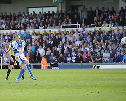 Bristol Rovers' David Clarkson goes close - Photo mandatory by-line: Joe Meredith/JMP - Mobile: 07966 386802 03/05/2014 - SPORT - FOOTBALL - Bristol - Memorial Stadium - Bristol Rovers v Mansfield - Sky Bet League Two
