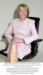 DIANNE THOMPSON, Chief Executive of Camelot PLC. operator of the National Lottery, at a reception in London on 25th April 2001.ONE 8