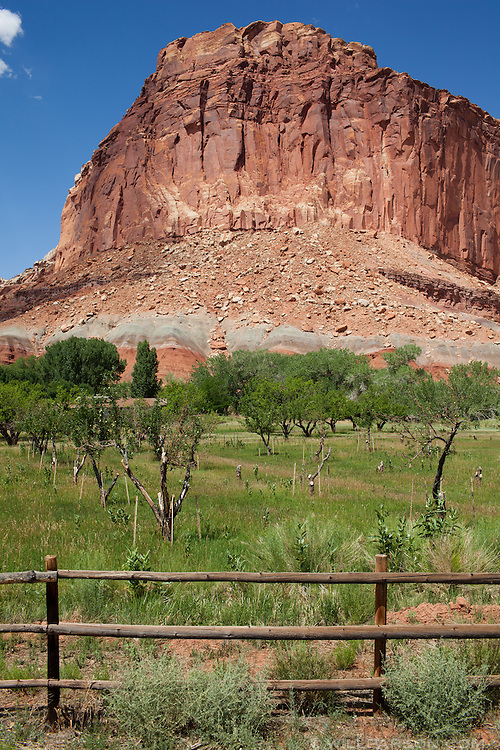 Capitol Reef National Park is home to the former Mormon settlement town of Fruita, Utah.