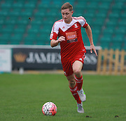 Whitehawk midfielder David Martin during the The FA Cup match between Whitehawk FC and Lincoln City at the Enclosed Ground, Whitehawk, United Kingdom on 8 November 2015. Photo by Bennett Dean.