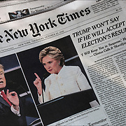 Trump refused to say he would concede if the election results showed he had lost. Trump's I'll-just-wait-and-see answer.<br /> <br /> Hillary Clinton and Donald Trump faced off in the third presidential debate at the University of Nevada, Las Vegas, on Wednesday, October 19, in their final showdown before Election Day.<br /> <br /> Clinton, faced some heat for allegations that the Clinton Foundation accepted foreign donations that created a conflict of interest for her as secretary of state, Trumpl,  refusal to say that he will accept the election results and defended himself against multiple allegations of sexual misconduct. Clinton called Trump a &ldquo;puppet&rdquo; of Russia, while the Republican nominee referred to his rival as a &ldquo;nasty woman.&rdquo;