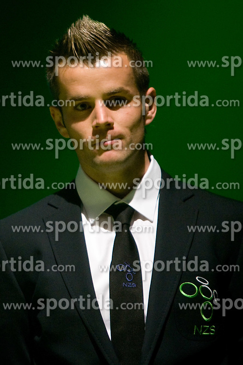 Elvedin Dzinic at official presentation of Slovenian National Football team for World Cup 2010 South Africa, on May 21, 2010 in Congress Center Brdo at Kranj, Slovenia. (Photo by Vid Ponikvar / Sportida)
