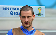 Leonardo Bonucci of Italy during the 2014 FIFA World Cup match at Itaipava Arena Pernambuco, Recife metropolitan area<br /> Picture by Stefano Gnech/Focus Images Ltd +39 333 1641678<br /> 20/06/2014