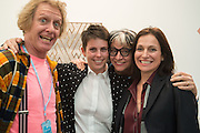 GRAYSON PERRY; JESSICA SILVERMAN; PHILLIPA PERRY; SARAH THORNTON, Opening of Frieze , Regents Park, London 12 October 2015