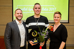 Gregor Kosi, Marino Kegl and Tina Cipot during Slovenian Disabled Sports personality of the year 2017 event, on December 6, 2017 in Austria Trend Hotel, Ljubljana, Slovenia. Photo by Vid Ponikvar / Sportida