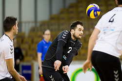 Klemen Hribar of Calcit Volley during Volleyball match between AHC Volley and Calcit Volley in Round #3 in blue group of Slovenian first league, on March 17, 2018 in Tivoli Sports Hall, Ljubljana, Slovenia. Photo by Urban Urbanc / Sportida