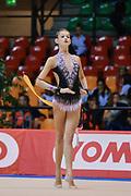 Elena Varallo atleta della Società Moderna Legnano durante la seconda prova del Campionato Italiano di Ginnastica Ritmica.<br /> La gara si è svolta a Desio il 31 ottobre 2015.