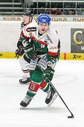 12.12.2014, Curt Fenzel Stadion, Augsburg, GER, DEL, Augsburger Panther vs Koelner Haie, 26. Runde, im Bild Steffen Toelzer #13 (Augsburger Panther) // during Germans DEL Icehockey League 26th round match between Augsburger Panther vs Koelner Haie at the Curt Fenzel Stadion in Augsburg, Germany on 2014/12/12. EXPA Pictures © 2014, PhotoCredit: EXPA/ Eibner-Pressefoto/ Kolbert<br /> <br /> *****ATTENTION - OUT of GER*****