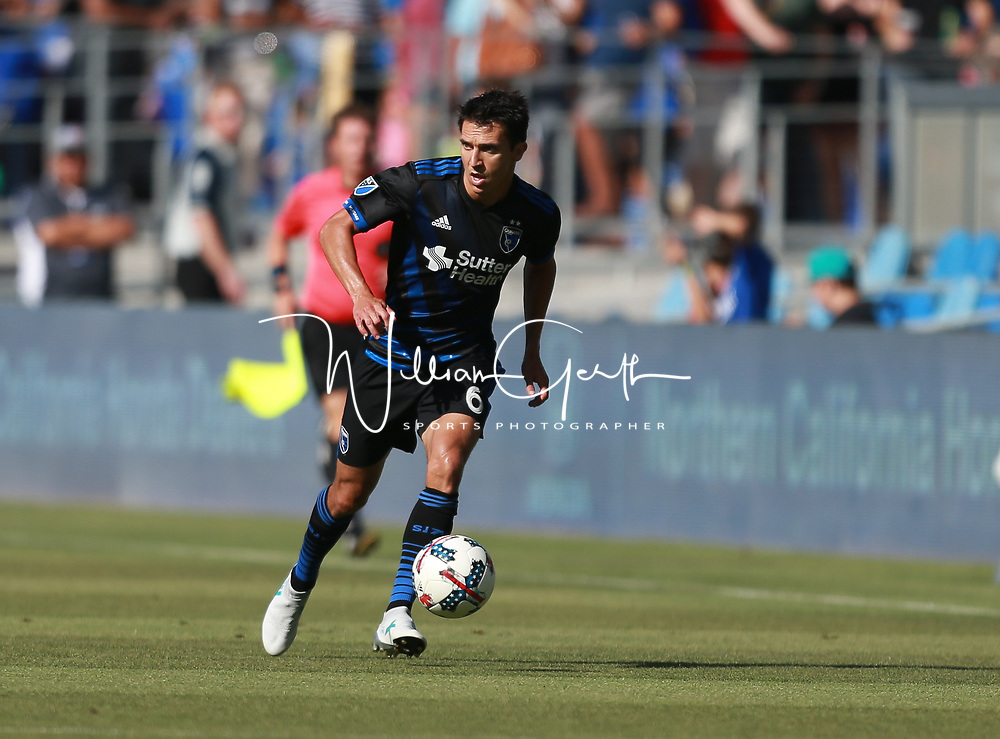 (Photograph by Bill Gerth7/29/17)  San Jose Earthquakes at Avaya Stadium, San Jose CA on 7/29/17.
