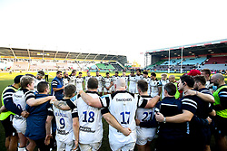 Bristol Bears huddle after defeat to Harlequins - Mandatory by-line: Robbie Stephenson/JMP - 23/02/2019 - RUGBY - Twickenham Stoop - London, England - Harlequins v Bristol Bears - Gallagher Premiership Rugby
