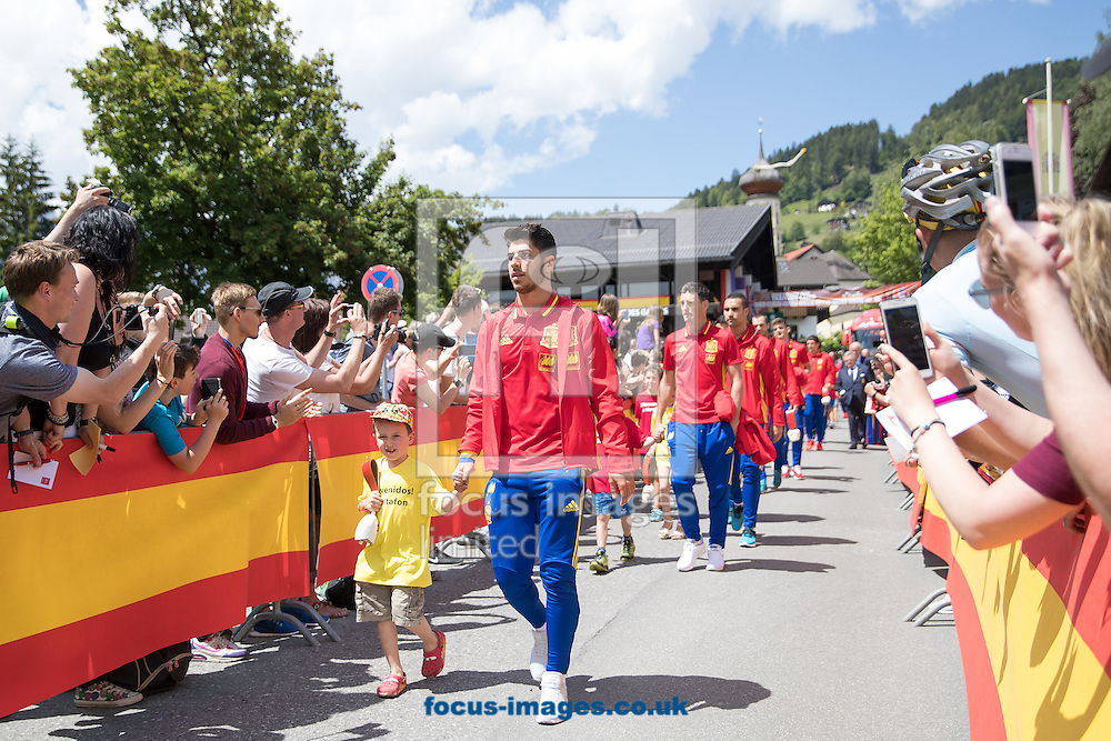 Marco Asensio of Spain arrives at Lowen Hotel, Schruns, Austria.<br /> Picture by EXPA Pictures/Focus Images Ltd 07814482222<br /> 26/05/2016<br /> ***UK &amp; IRELAND ONLY***<br /> EXPA-GRO-160526-5013.jpg