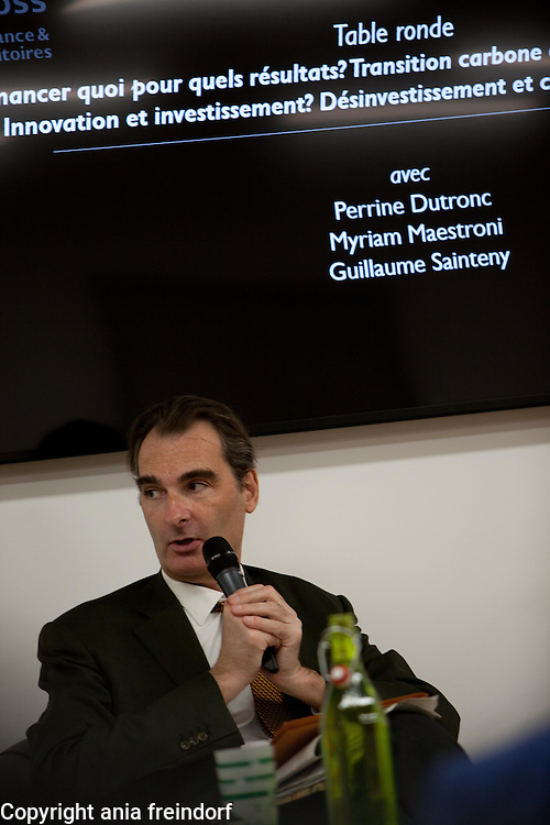 "Green Cross France Finance green transition conference, ""La francaise "" group, Paris, France, climate change, COP22, green bonds, green finance, climate finance, climate gouvernance, energy transition, energy shift. Guillaume Sainteny associated Proffesor at Ecole Polytechnique"