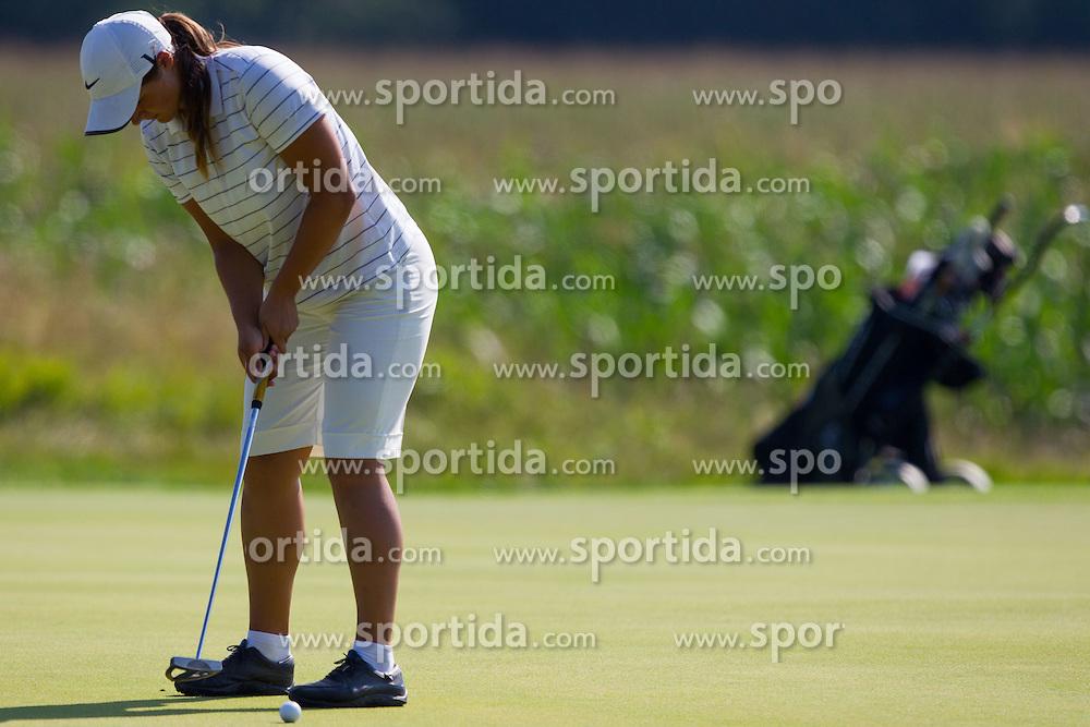 Nastja Banovec of Slovenia during golf competition in day 3 of International European Ladies Amateur Championship 2012, on July 27, 2012 in Smlednik at Ljubljana, Slovenia. (Photo by Grega Valancic / Sportida)