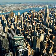 Aerial views of Manhattan