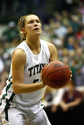 18 March 2011:  Stacey Arlis during an NCAA Womens basketball game between the Washington University Bears and the Illinois Wesleyan Titans at Shirk Center in Bloomington Illinois.