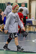 Slate Hill, New York - Boys compete in a youth wrestling tournament at Minisink Valley Middle School  on Feb. 21, 2014.