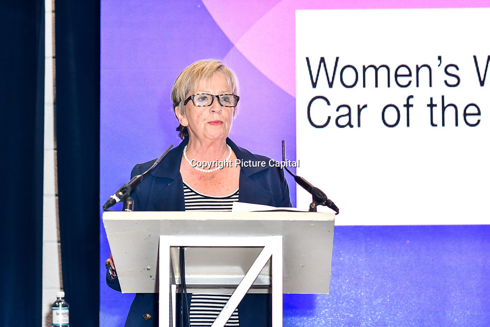 Speaker Sandy Myhre is the Womens World Car of the Year, The Judges at the London Motor & Tech Show opening day on 16 May 2019, at Excel London, UK.