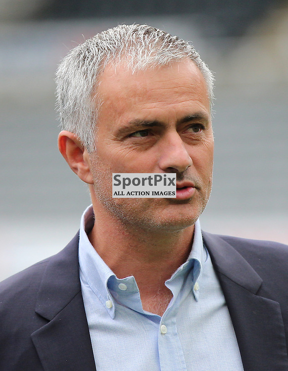 Newcastle United v Chelsea English Premiership 26 September 2015; a relaxed First Team Manager Jose Mourinho (Chelsea) before the Newcastle v Chelsea English Premiership match played at St. James' Park, Newcastle; <br /> <br /> &copy; Chris McCluskie | SportPix.org.uk