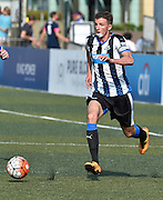 HKFC Citibank Soccer sevens- Newcastle United vs HKFC. Newcastle player Dan Barlaser