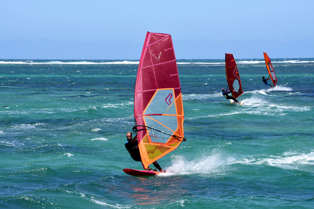 Windsurfers at lancelin Ocean Classic Series, Lancelin, WA, Australia