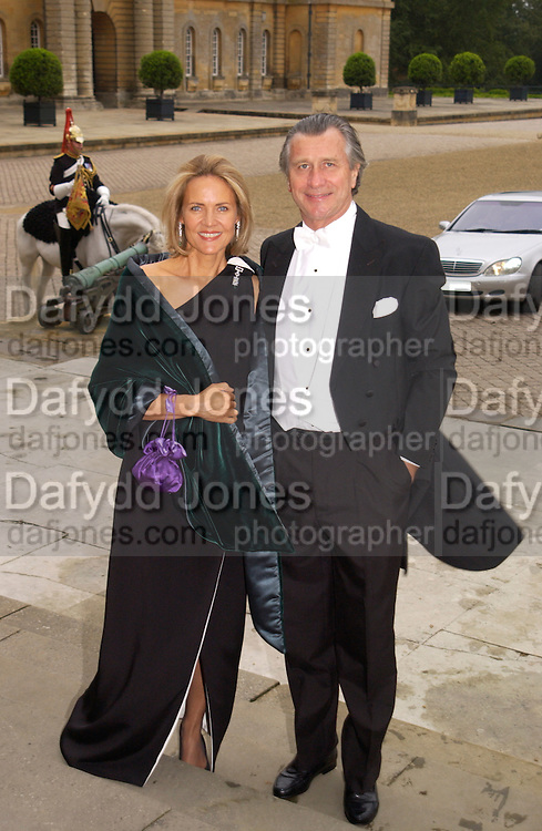 Mr. and Mrs. Arnaud Bamberger, Ball at Blenheim Palace in aid of the Red Cross, Woodstock, 26 June 2004. SUPPLIED FOR ONE-TIME USE ONLY-DO NOT ARCHIVE. © Copyright Photograph by Dafydd Jones 66 Stockwell Park Rd. London SW9 0DA Tel 020 7733 0108 www.dafjones.com
