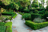 The manicured herb section of the Guangxi Medicinal Herb Botanical Garden in Nanning.