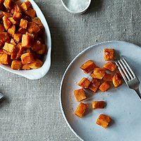 Sweet Potatoes Roasted in Coconut Oil