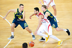 Furkan Korkmaz of Turkey during basketball match between National teams of Slovenia and Turkey in Round #8 of FIBA Basketball World Cup 2019 European Qualifiers, on September 17, 2018 in Arena Stozice, Ljubljana, Slovenia. Photo by Urban Urbanc / Sportida