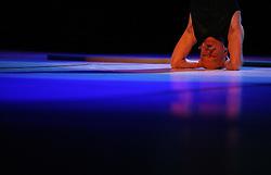"""Performer Sandi Pavlin at """"goodbye"""" event of Slovenian professional sports dance couple Andrej Skufca and Katarina Venturini, named Infinity is Eternity (Neskoncnost je vecnost), on March 2, 2008, in Cankarjev dom, Ljubljana, Slovenia.  (Photo by Vid Ponikvar / Sportal Images)/ Sportida)"""