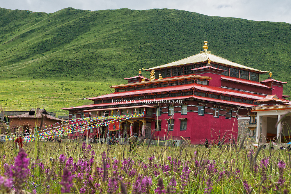 Tibet Images-monastery-landscape Tibet images-Golog