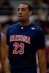 February 27, 2010; Stanford, CA, USA; Arizona Wildcats forward Derrick Williams (23) during the first half against the Stanford Cardinal at Maples Pavilion. Arizona defeated Stanford 71-69.
