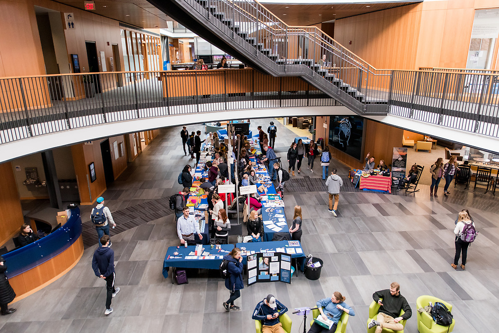 Faculty from all departments of the University came together as part of Major Madness, to give students a taste of what all the majors are that Gonzaga has to offer in the Hemmingson Main Street on March 28th, 2017. (Photo by Edward Bell)