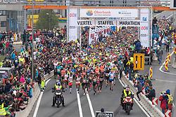 14.04.2019, Linz, AUT, Oberbank Linz Donau Marathon, am Sonntag, 14. April 2019, während des Linz Donau Marathon, in Linz, im Bild Start zum 18. Linz Marathon // during the Oberbank Linz Donau Marathon in Linz, Austria on 2019/04/14. EXPA Pictures © 2019, PhotoCredit: EXPA/ Reinhard Eisenbauer
