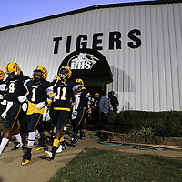 Adam Robison | BUY AT PHOTOS.DJOURNAL.COM<br /> The Ripley Tigers walk out of their locker room to take the field against Lafayette Friday night.