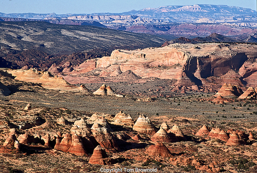 Coyote Buttes on the Paria  Plateau to Bryce Canyon with the Kaibab Monocline.