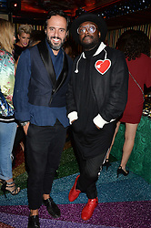 Left to right, JOSE NEVES and WILL.I.AM at a party hosted by fashion website Farfetch to launch i.am + EPs headphones hosted by Will.i.am at Loulou's, 5 Hertford Street, London on 16th September 2016.