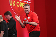Wes Newton hits a double and celebrates during the Ladrokes UK Open 2019 at Butlins Minehead, Minehead, United Kingdom on 1 March 2019.