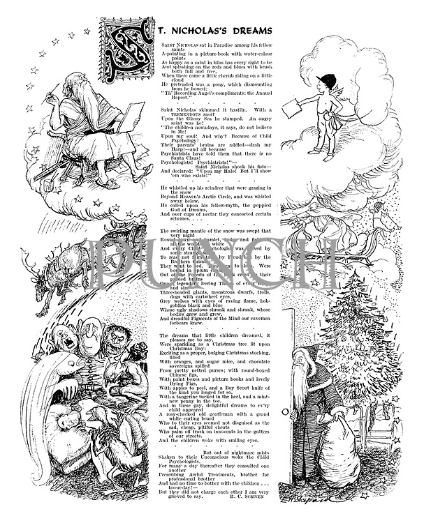 St. Nicholas's Dreams (illustrated poem)